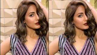 Kasautii Zindagii Kay's Komolika Aka Hina Khan Looks Hot And Sensuous in Short Hair And Sexy Shimmery Outfit, See Pic