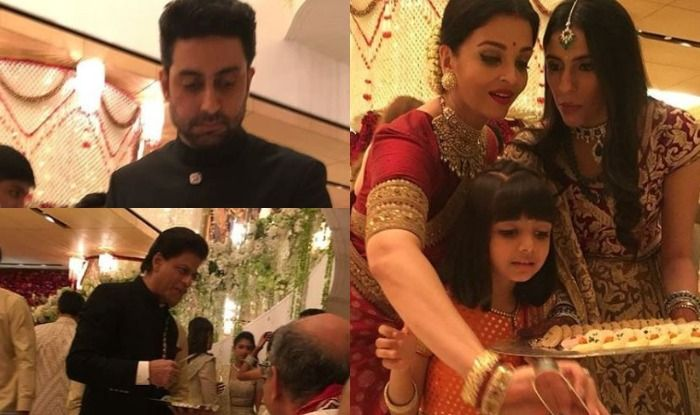 Image result for amitabh and aamir serving food at isha ambani marriage, india.com