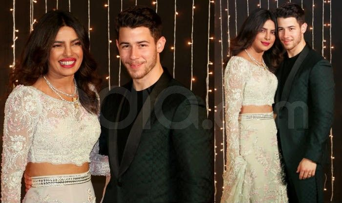 Priyanka Chopra and Nick Jonas at their wedding reception in Mumbai. Photo Courtesy: Yogen Shah/ India.com
