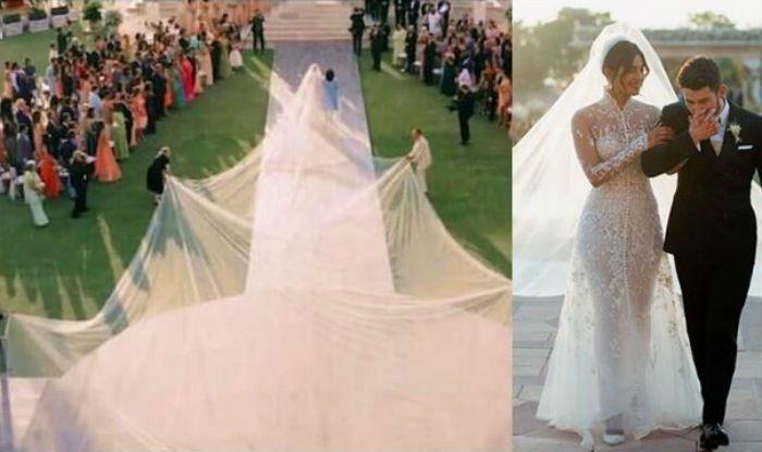f84267c02f Priyanka Chopra-Nick Jonas Wedding  Take a Look at Hilarious Memes on The Bride s  Stunning 75-Foot Long Wedding Veil