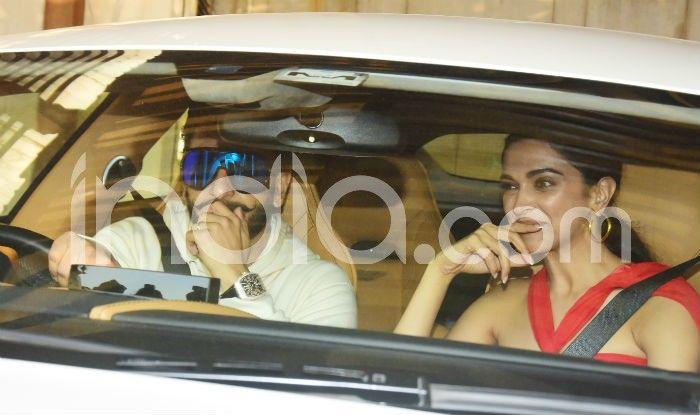 Ranveer Singh and Deepika Padukone at Zoya Akhtar's Christmas Party (Photo Courtesy: Yogen Shah/ India.com)