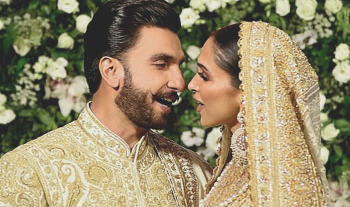 Ranveer Singh and Deepika Padukone at Their Wedding Reception (Photo Courtesy: Getty Images)