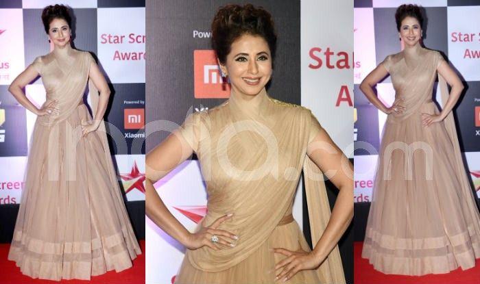 Urmila Matondkar at the red carpet of Star Screen Awards 2018. Photo Courtesy: Yogen Shah/ India.com