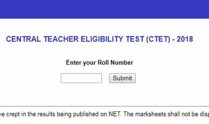 TET 2019: 12 Per Cent Candidates Clear Teacher Eligibility Test as Opposed to 5.62 Per Cent in 2016