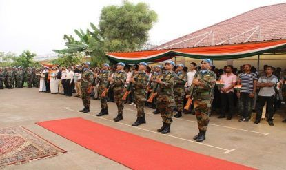Indian Ambassador to South Sudan, S.D. Moorthy unfurled the national flag