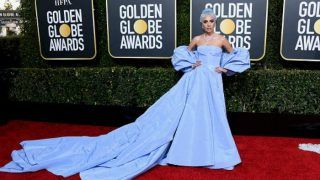 Lady Gaga at Golden Globes 2019 Red Carpet: Setting New Trend in Blue Valentino Gown With Matching Coloured Hair