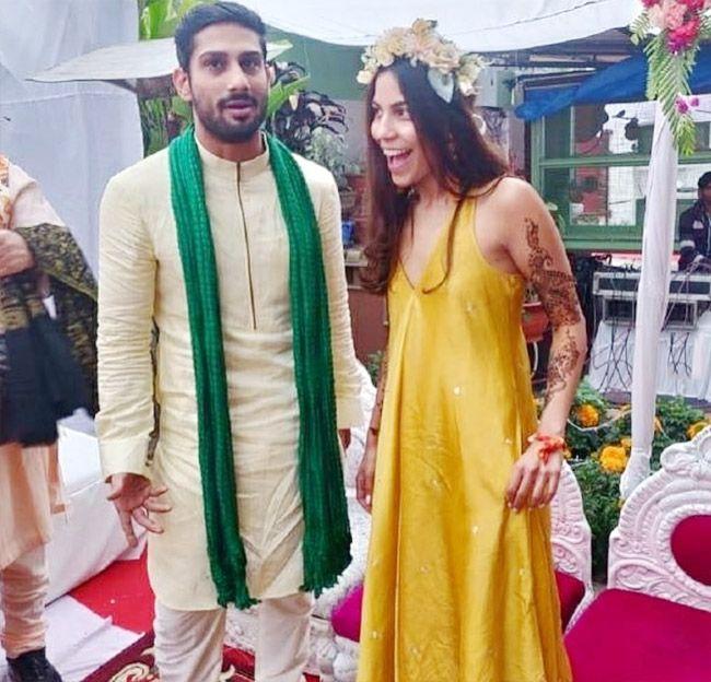 Prateik Babbar and Sanya Sagar
