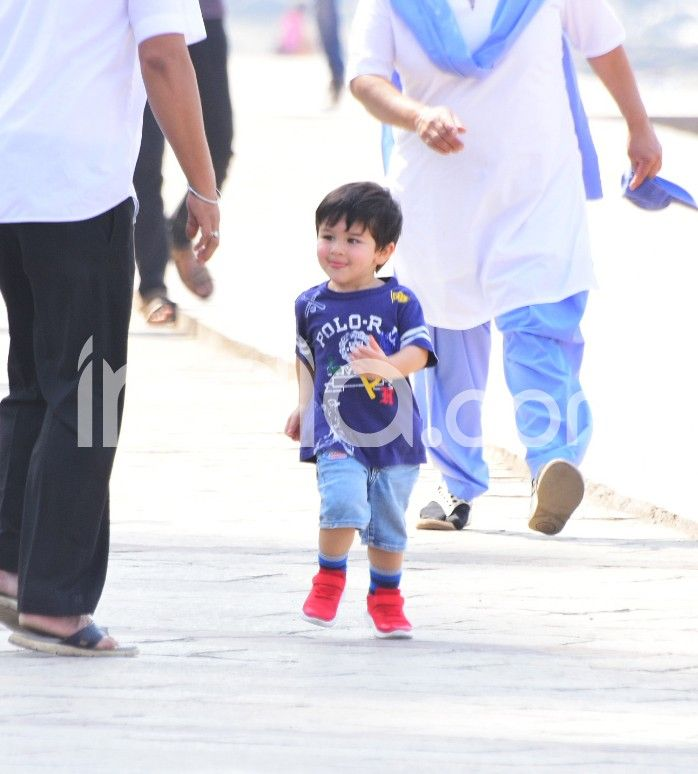 Taimur Ali Khan and Saif Ali Khan