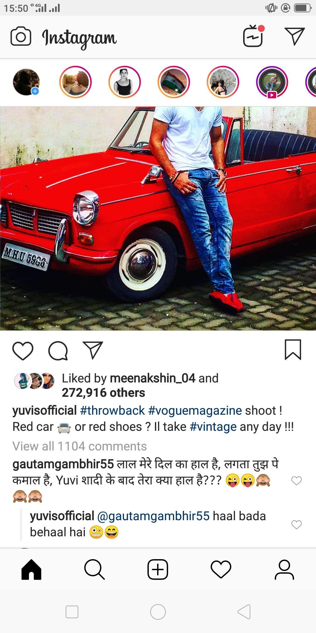 Yuvi trolled by Gautam Gambhir