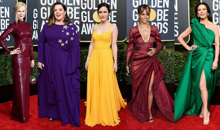 Nicole Kidman, Melissa McCarthy, Rachel Brosnahan, Halle Berry and Catherine Zeta-Jones at Golden Globes 2019 (Photo Courtesy: Getty Images)