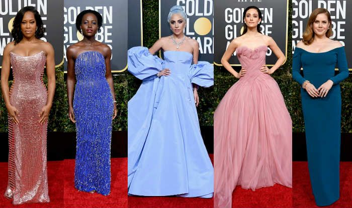 Regina King, Lupita Nyong'o, Lady Gaga, Emmy Rossum and Amy Adams at Golden Globes 2019 (Photo Courtesy: Getty Images)