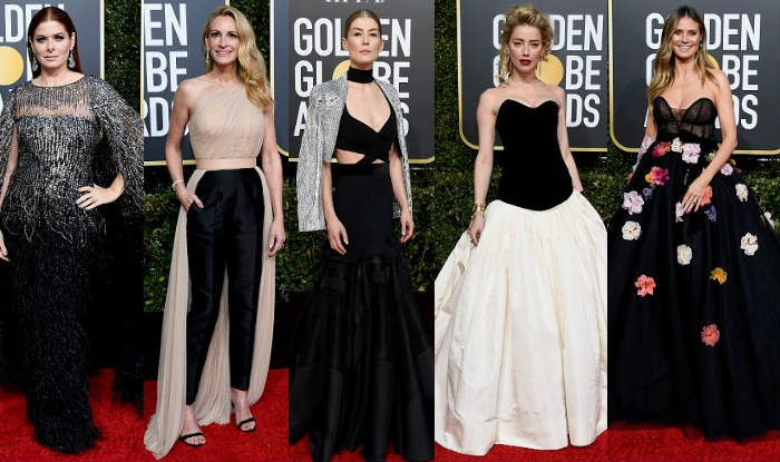 Debra Messing, Julia Roberts, Amber Heard and Heidi Klum at Golden Globes 2019 (Photo Courtesy: Getty Images)