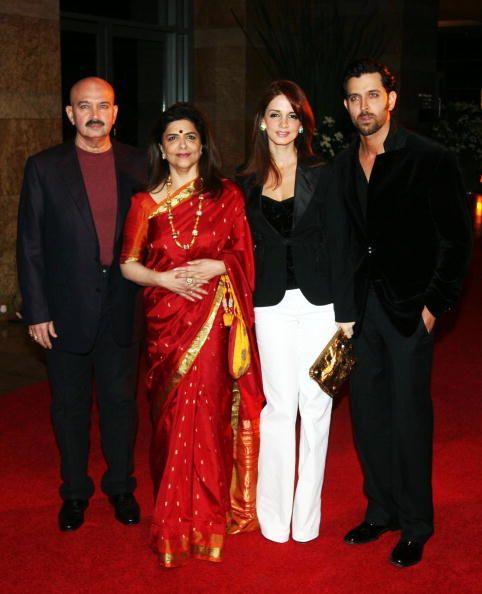 Hrithik Roshan, Sussanne Khan, Rakesh Roshan