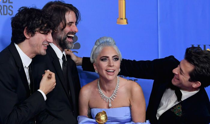 Lady Gaga with the team of Shallow song at Golden Globes 2019 (Photo Courtesy: Kevin Winter/Getty Images)