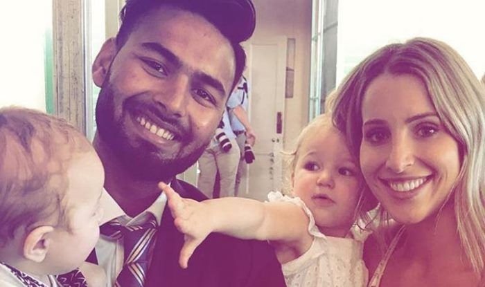 India star's cheeky photo with Tim Paine's wife and kids