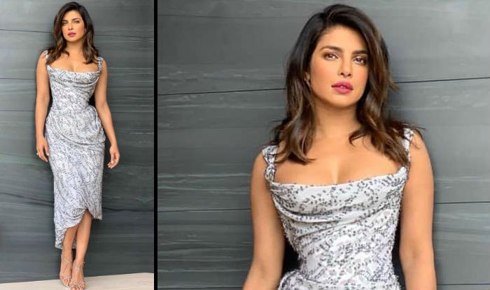 Priyanka Chopra Looks Stunning in White-Grey Vivienne Westwood Dress For Her Appearance on The Ellen Degeneres Show-See Pic