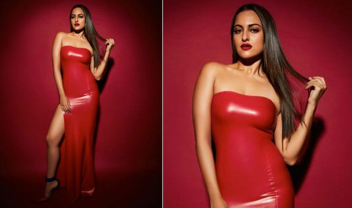 Sonakshi Sinhas Hot Picture In Red Latex Dress Is Proof -4146