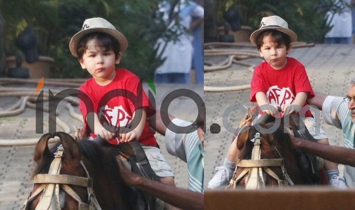 Taimur Ali Khan Goes On A Horseback Ride With His Little