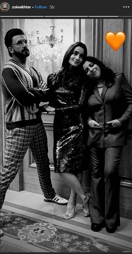 Alia Bhatt, Ranveer Singh, Zoya Akhtar