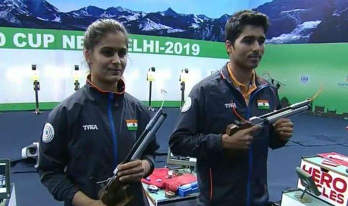 Manu Bhaker-Saurabh Chaudhary, ISSF World Cup 2019, 10m Air Pistol Event, Shooting World Cup, Manu-Saurabh, Shooting