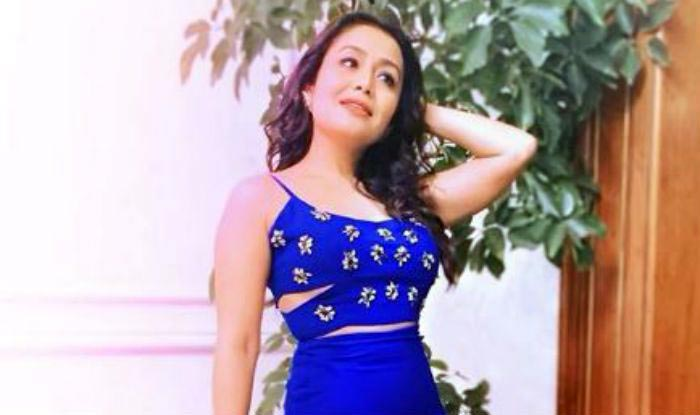 Singing Sensation Neha Kakkar Looks Smoking Hot In Blue Crop Top And Thigh High Slit Skirt In Her Latest Instagram Picture India Com