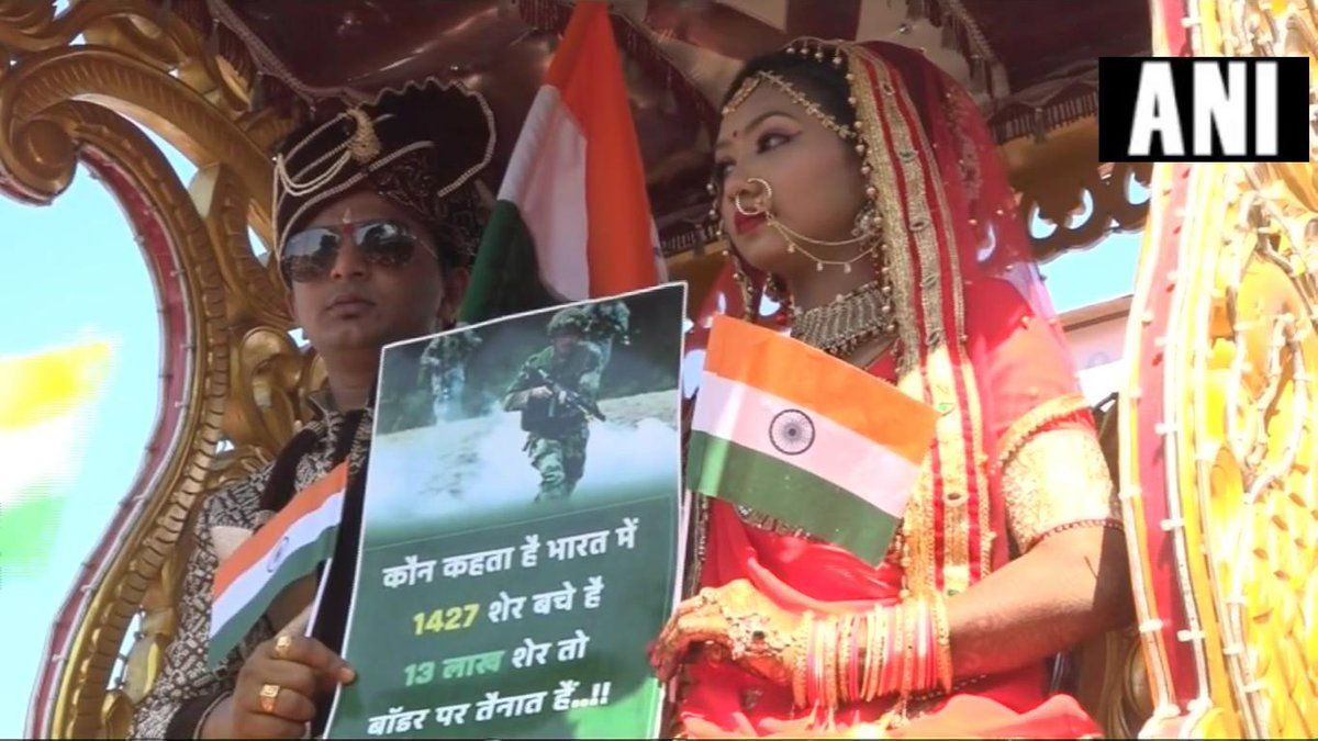 Pulwama Terror Attack: Couple Takes Out Procession Ahead of Marriage to Pay Tribute to Martyrs in Gujarat's Vadodara