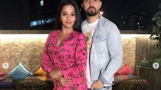 Bhojpuri Actress Monalisa Celebrates Valentines Day With Husband Vikrant Singh Rajpoot
