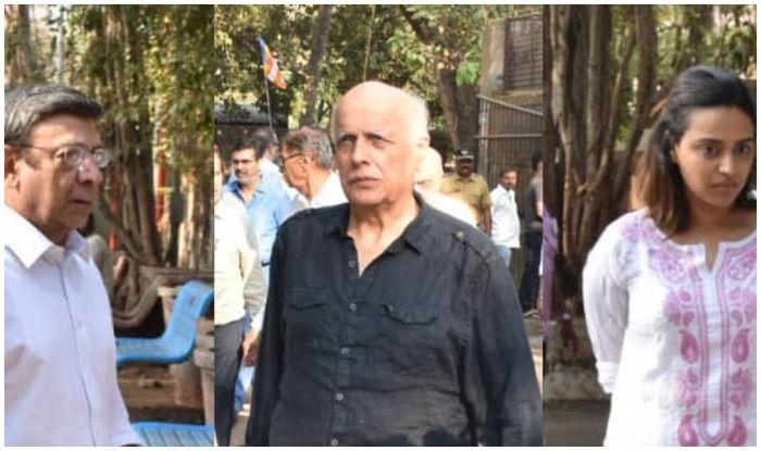 Raj Kumar Barjatya  Last Rites: Swara Bhasker, Soni Razdan-Mahesh Bhatt, Bhagyashree Attend Funeral of Sooraj Barjatya's Father