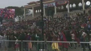 Thousands Celebrate, Dance at Wagah Border During Beating Retreat After Air Strike at Balakot