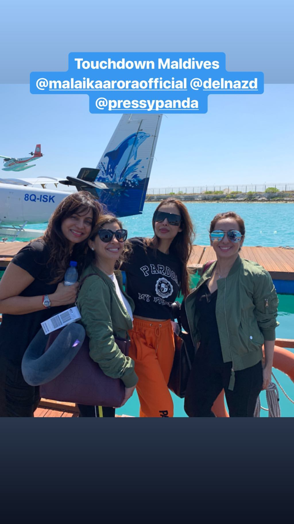 Malaika Arora and friends in the Maldives