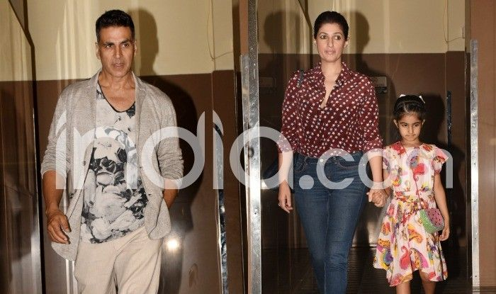 Akshay Kumar, Twinkle Khanna and Nitara