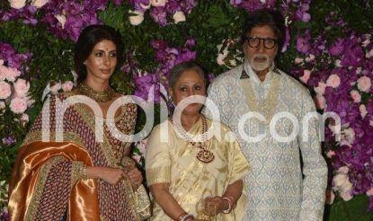 Amitabh Bachchan, Jaya Bachchan and Shweta Bachchan