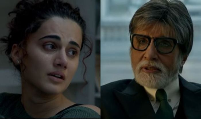 Taapsee Pannu and Amitabh Bachchan in scene from Badla