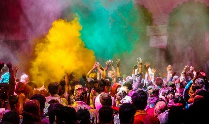 People celebrating Holi