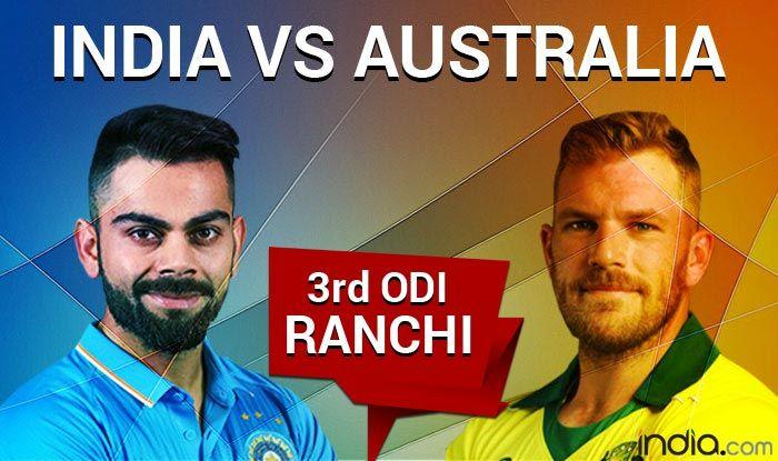 India vs Australia 3rd ODI Live Blog