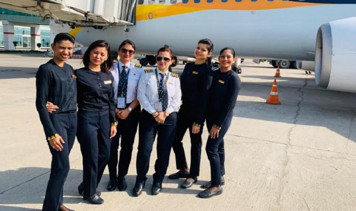 International Women's Day 2019: Jet Airways Operates Four Domestic Flights With All–women Crew