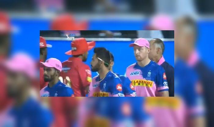 Jos Buttler avoids eye contact with Ravichandran Ashwin_Picture credits-Twitter