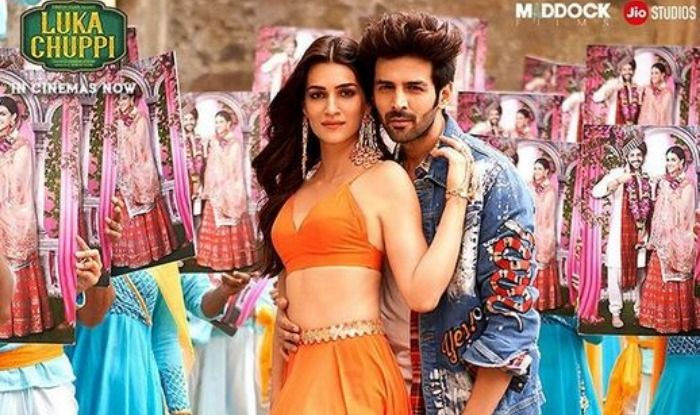 Kartik Aaryan and Kriti Sanon in scene from Luka Chuppi