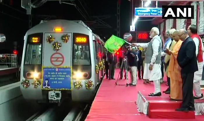 Modi in Ghaziabad: PM Flags Off Metro Services Between Dilshad Garden in Delhi to New Bus Adda in Ghaziabad