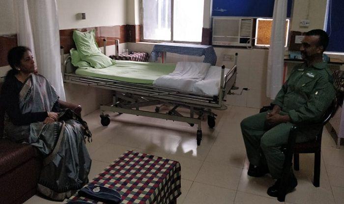 Nirmala Sitharaman Meets Abhinandan Varthaman at Hospital; Wing Commander to Stay at IAF Officers Mess
