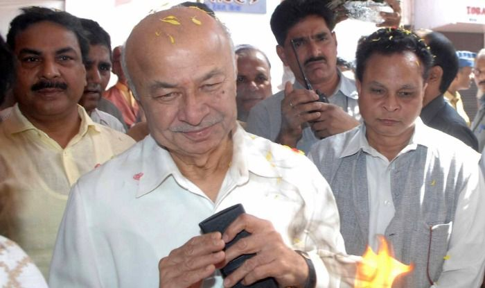 Congress leader Sushilkumar Shinde