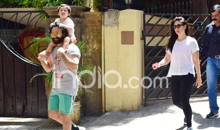 Taimur with his parents Saif Ali Khan and Kareena Kapoor. Photo Courtesy: Yogen Shah