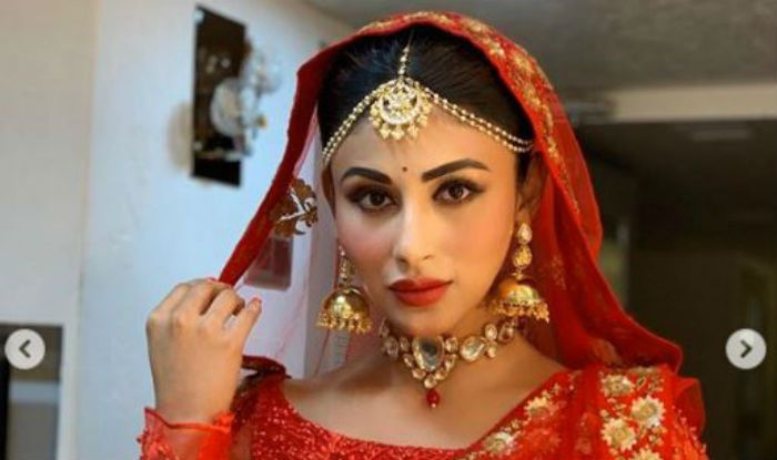 Mouni Roy Dresses up as a Bride, Looks Gorgeous in Red Bridal Avatar, See Pics