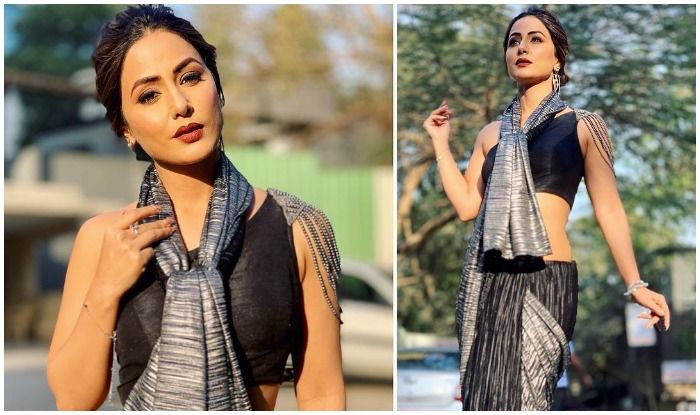 Television Hottie Hina Khan Oomphs Hotness as She Redefines Saree Style, Sets Fans Hearts Racing by Draping it in Indo-Western Way