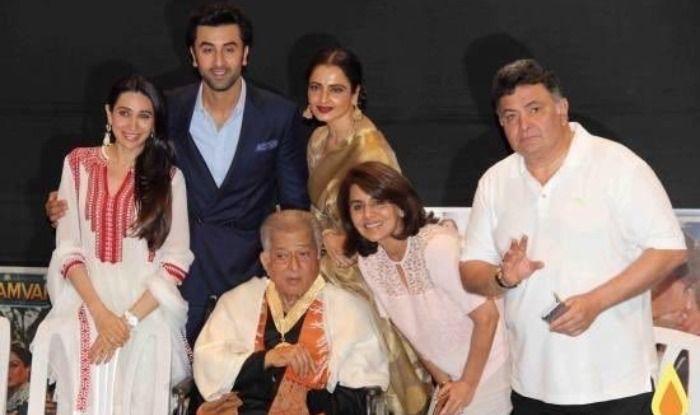 Rishi Kapoor, Shashi Kapoor, Neetu Kapoor, Karisma Kapoor, Ranbir Kapoor and Rekha