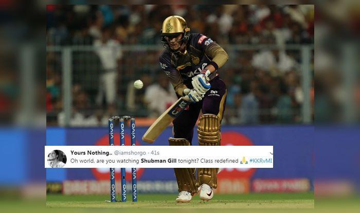 Shubman Gill KKR vs MI IPL 2019