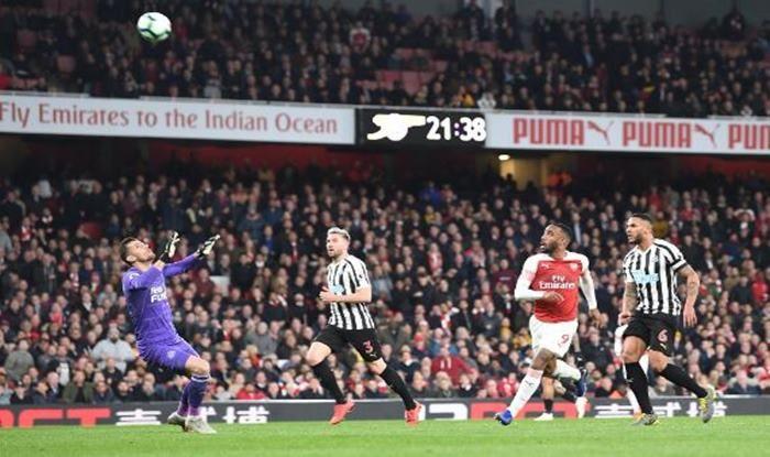Arsenal's Lacazette scores against Newcastle United