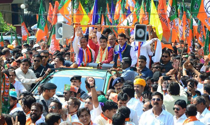 BJP leaders campaigning in Maharashtra