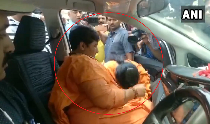 WATCH | Amid Rumours of Rift, Pragya Thakur, Uma Bharti Hug, Cry And Comfort Each Other