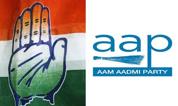 Congress and Aam Aadmi Party symbols